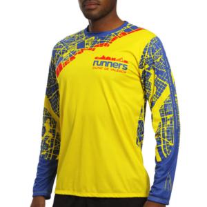 Camiseta Atletismo Manga Larga