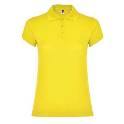 Polo algodón mujer amarillo