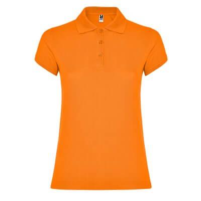 Polo algodón mujer naranja