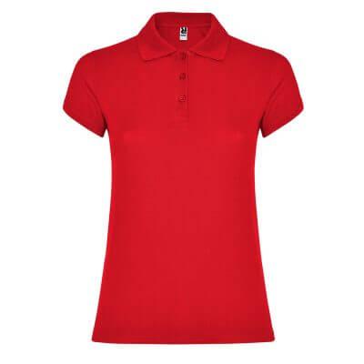 Polo algodón mujer roja