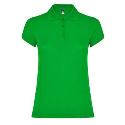 Polo algodón mujer verde