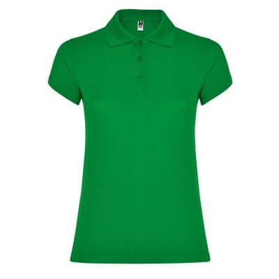 Polo algodón mujer verde oscuro