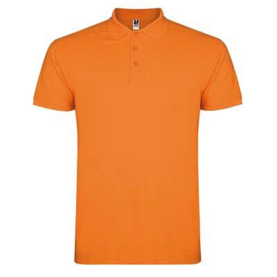 Polo algodón naranja