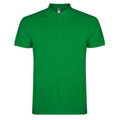 Polo algodón verde oscuro