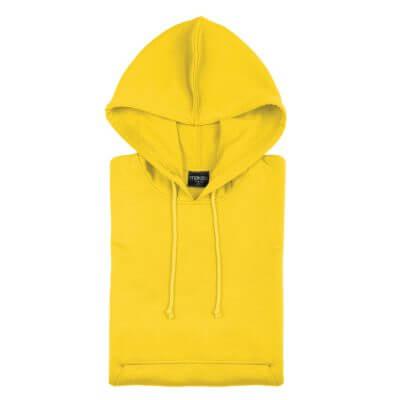 Sudadera Técnica Capucha amarillo