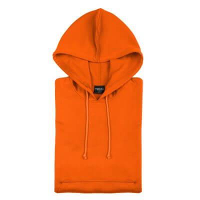 Sudadera Técnica Capucha naranja