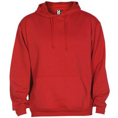 Sudadera algodón rojo