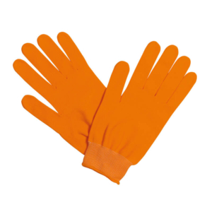 guantes running naranja