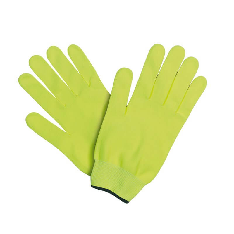 guantes running pistacho