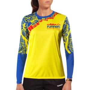 Camiseta Atletismo Manga Larga Mujer
