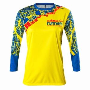 Camiseta Atletismo Mujer Manga Larga