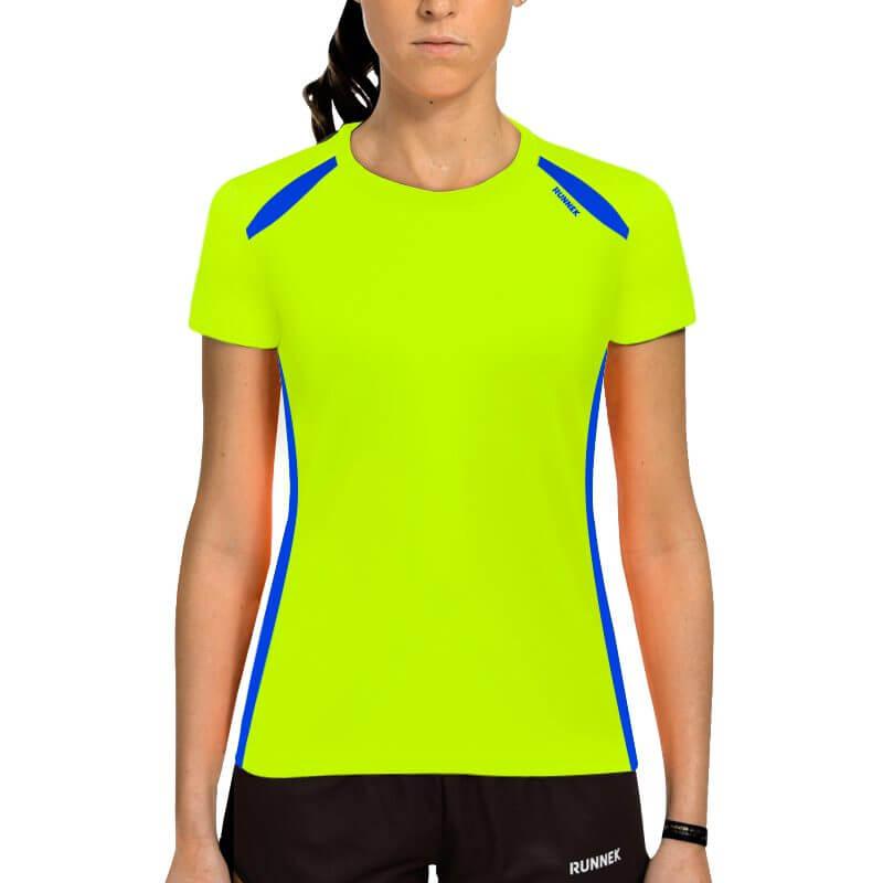 Camiseta wave amarillo mujer
